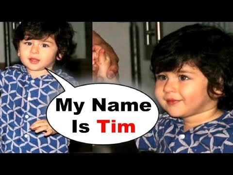 Taimur Ali Khan Corrects His Name As TIM | Cutest Video