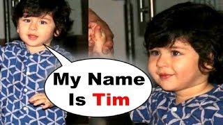 Taimur Ali Khan Corrects His Name As TIM | Cutest Video