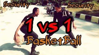 1 vs 1 Security Basketball     Sekuriti vs sekuriti(Tanding basket Bro)