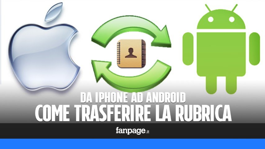 copiare rubrica da iphone 8 a android
