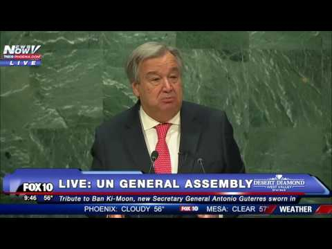 1ST SPEECH: Antonio Guterres Addresses United Nations After Being Sworn in as Secretary General -FNN