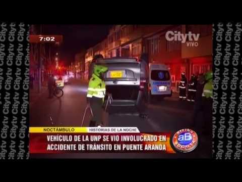 Camioneta de la Unidad de Protección protagoniza accidente en Bogotá | CityTv