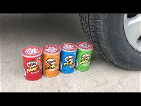 EXPERIMENT CAR VS MINI PRINGLES 2