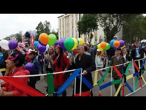 ПАРАД в честь юбилея г Поронайска 2часть PARADE In Honor Of The Anniversary Of Mr. Poronaysk 2 Part