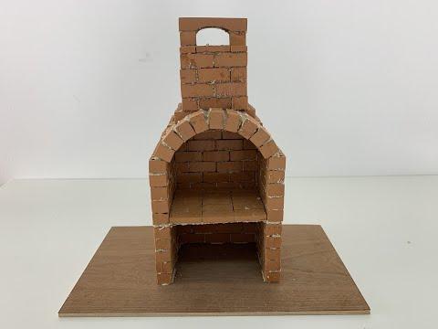 Brick BBQ!!! Miniature brick, bricklaying, how to bild a brick wall