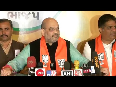 Shri Amit Shah's briefing to the media in Gujarat
