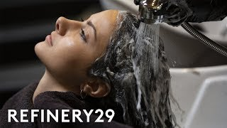 I Dyed My Light Brown Hair Ink Black | Hair Me Out | Refinery29