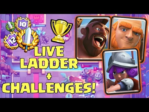 LIVE LADDER PUSHING & GRAND CHALLENGES! | Clash Royale