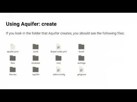 ADUG: Introduction to Aquifer