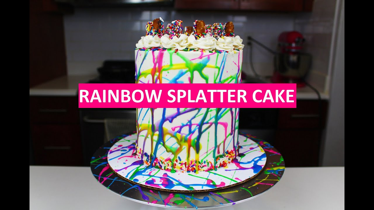 How To Make A Splatter Cake