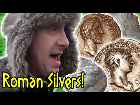 Metal Detecting Roman Silver Coins