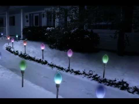 Giant Bulb Christmas Pathway Lights YouTube - Pathway Christmas Lights