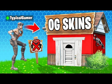I Went UNDERCOVER in an OG ONLY Tournament! (Fortnite)