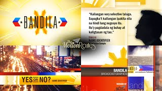 Bandila Abs-cbn  Broadcast Package/graphics  Version By The Motion Routes