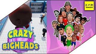 【生放送】【単発】三人称+トシゾーのCrazy Bigheads【パーティーゲー】
