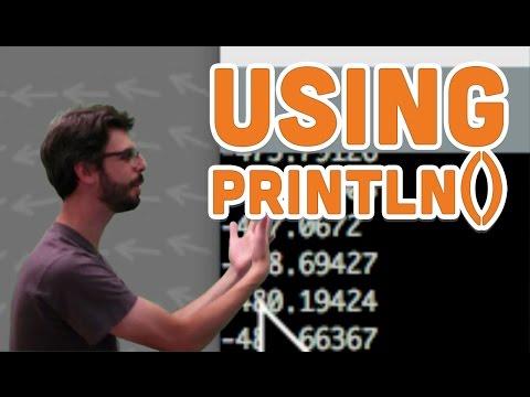 4.4: Using Println() - Processing Tutorial