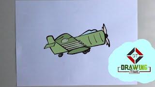 Çok kolay Savaş Uçağı çizimi   how to draw War Plane   как нарисовать самолет