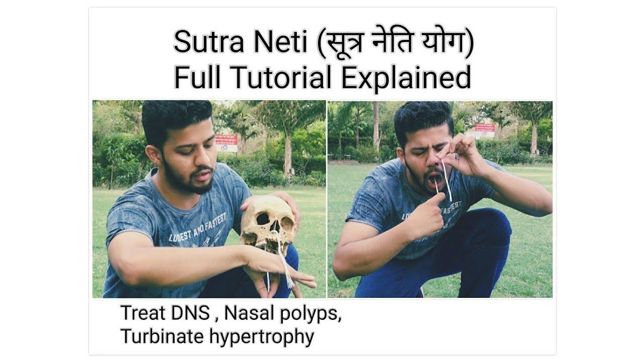 Jala Neti & Sutra Neti Kriya - Nasal Cleaning Yoga Video ... |Sutra Neti Sinus Cavity Diagram