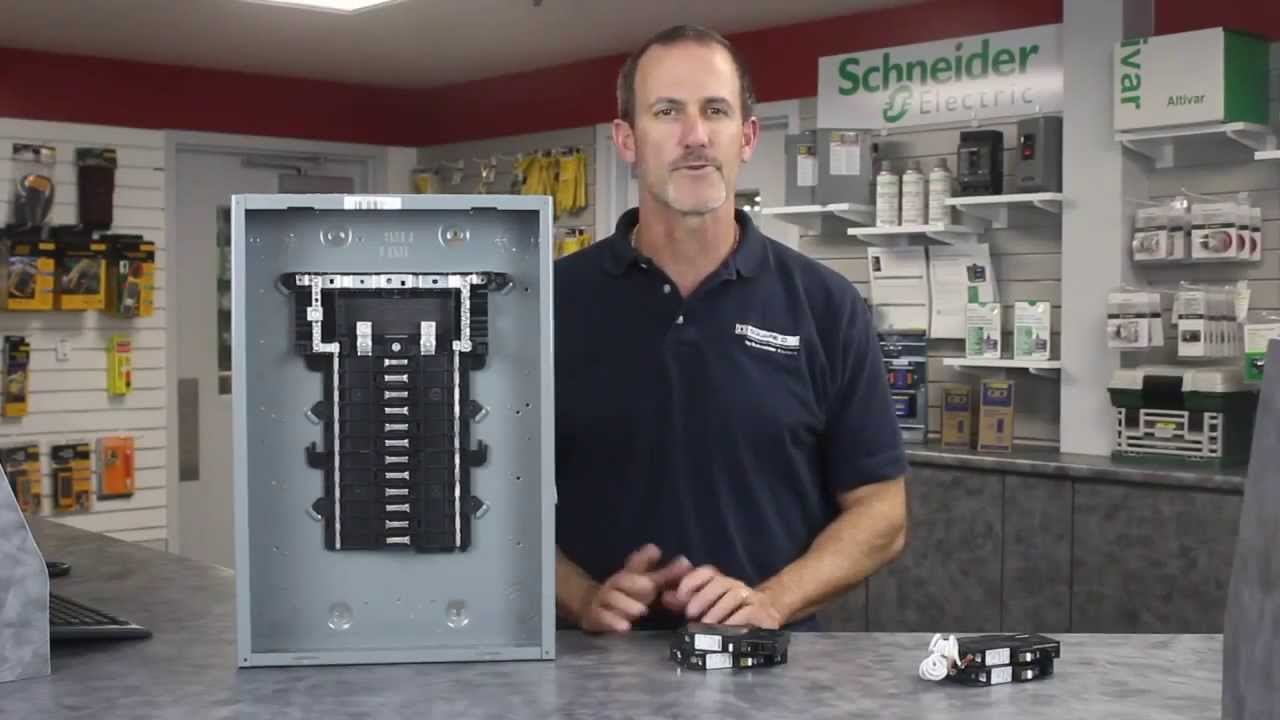 Square D™ QO™ Plug on Neutral CAFI Circuit Breakers - YouTube