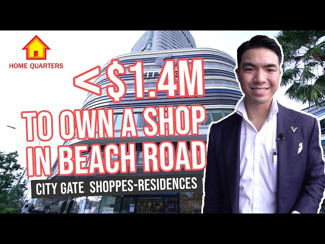 City Gate | Less than $1.4M to own a SHOP in Beach Road!