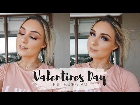 Valentines Day Glam Makeup Tutorial  Natalie Brown