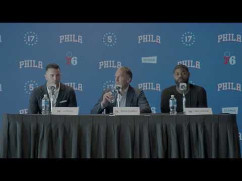 J.J. Reddick and Amir Johnson Introductory Press Conference