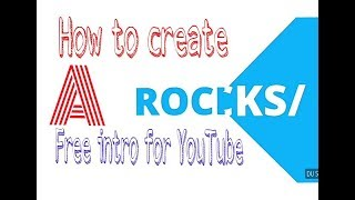 How to create a intro vedio for YouTube  in Tamil