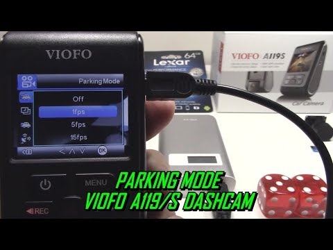 Parking Mode Using Power Bank A119/Pro/S Dash Cam