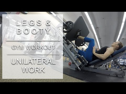 Leg Day with Lots of Unilateral Work:  Gym Workout 12