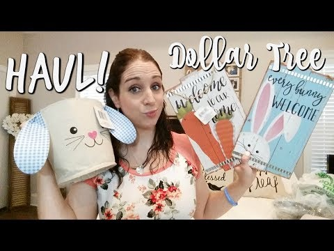DOLLAR TREE HAUL 2-15-18! NEW EASTER/SPRING ITEMS!