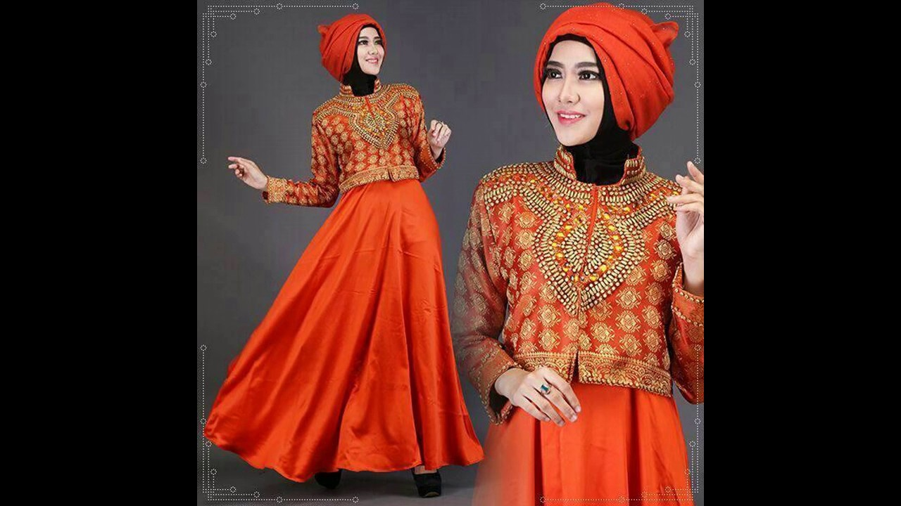 Model Baju Muslim Orange Terbaru