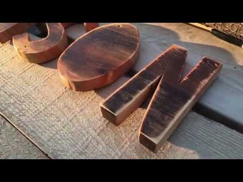 DIY Custom Wood Letters