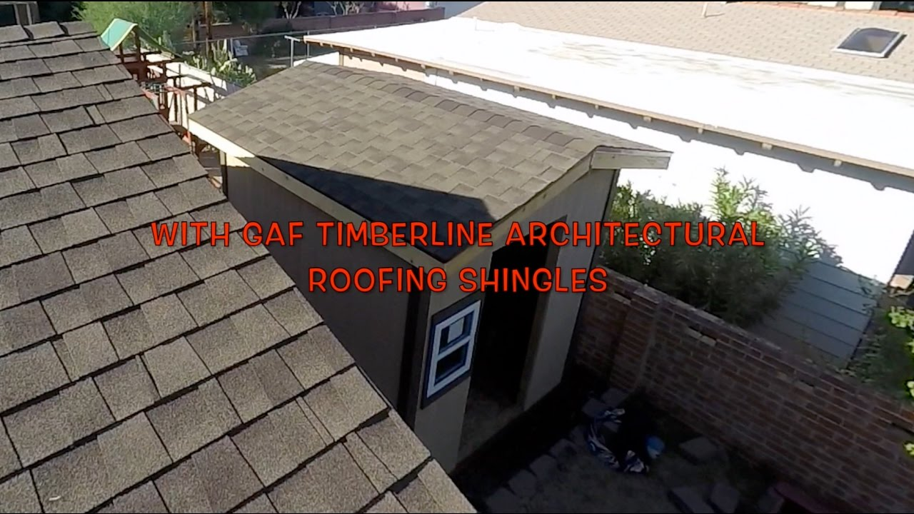 INSTALLING ROOFING SHINGLES   GAF TIMBERLINE