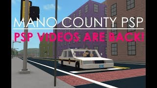 ROBLOX | Mano County PSP#6 | PSP VIDEOS ARE BACK!