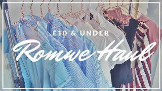 £10 & UNDER ROMWE HAUL & TRY ON | AUGUST 2016 - SARAH WORE WHAT