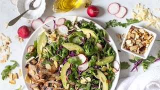 Balsamic Chicken Salad with Apples and White Cheddar