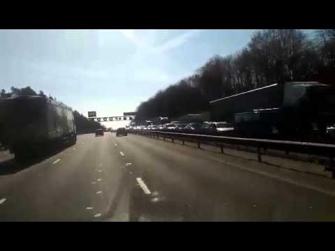 M1 Bedfordshire closed northbound