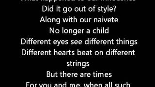 Rush-Different Strings (Lyrics)