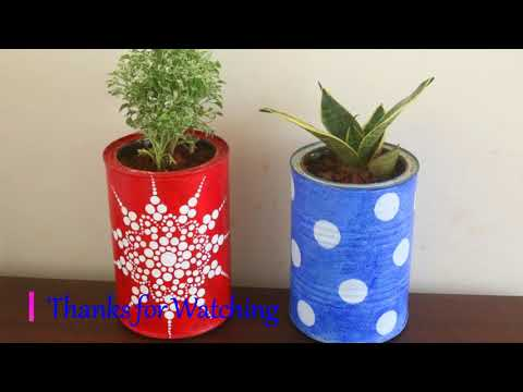 How to Recycle Empty Tin Cans/ DIY Cans Planter