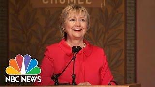 Hillary Clinton Cheered For 'Alternative Reality' Kellyanne Conway Jab   NBC news