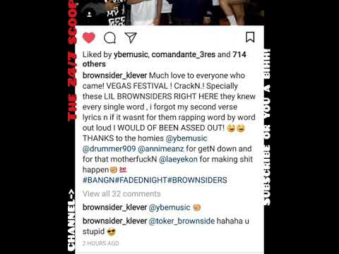 MR. CRIMINAL ( SHOWING THE BROWNSIDE CAMP LOVE..ALSO IS CLEVER & BENZ TOGETHER? )