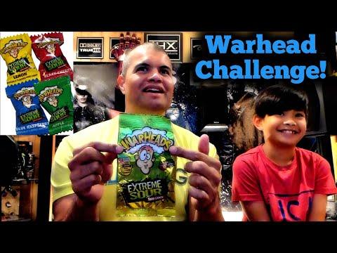 Warhead Challenge : Sour Candy Tasting!