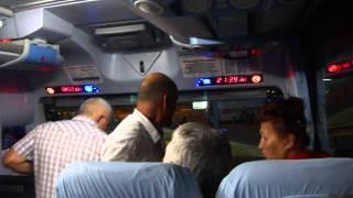 пьяный дебошир в автобусе