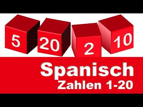 Spanische Zahlen 1-20
