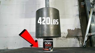World's HEAVIEST Dumbbell (420lbs) vs GOKU GAINS PRE-WORKOUT Test!