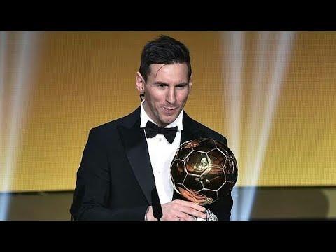 Messi Gana Su 5 Balon De Oro 2016 Y Lo Entrega El
