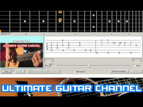 Guitar Solo Tab Crazy For You Madonna Youtube