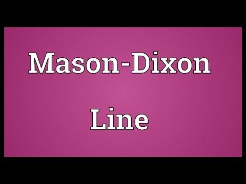 Mason-Dixon Line Meaning