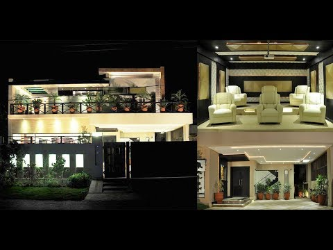 1 Kanal Luxurious Modern House Design with Home Theatre | 500 sq Yd House
