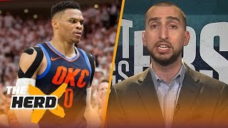 Nick Wright finally agrees with Colin about Russell Westbrook, talks future of the East | THE HERD
